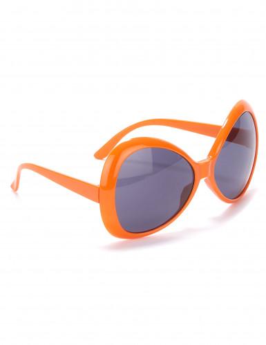 Occhiali disco per adulto arancione