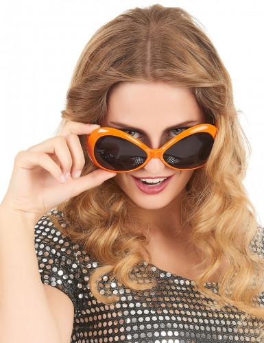 Occhiali disco per adulto arancione-1