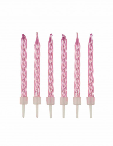 12 candeline rosa effetto perlato
