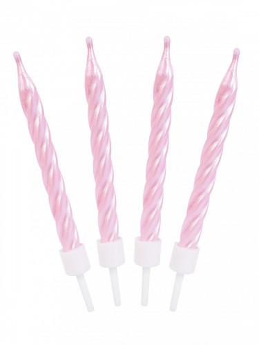 12 candeline rosa effetto perlato-1