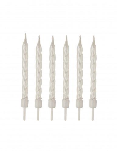 12 candeline di compleanno bianco perla