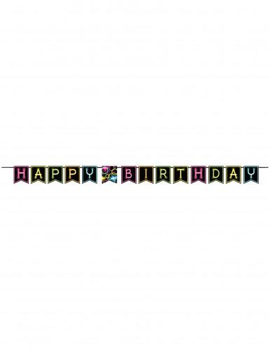 Ghirlanda Happy Birthday Fluo Party-1