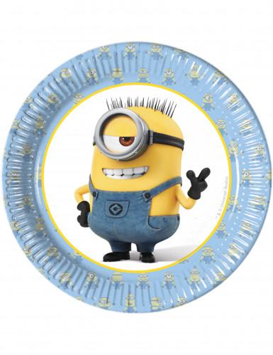 8 piattini lovely Minions™ 19 cm