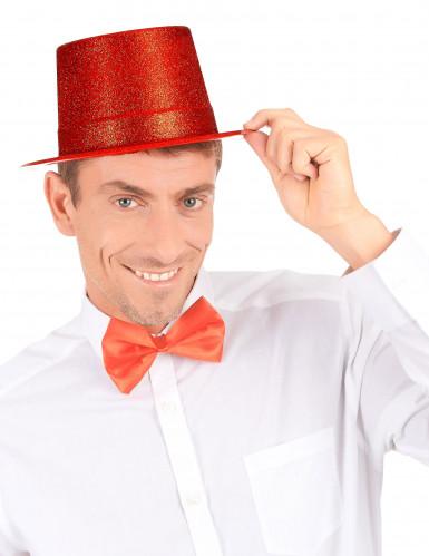 Cappello a cilindro brillantini rosso-2