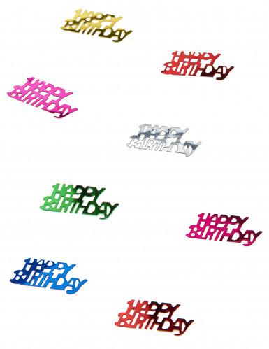 Coriandoli Happy Birthday colorati