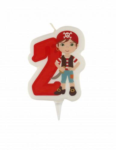 Candelina di compleanno pirata numero 2