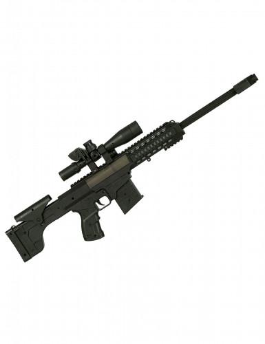 Finta mitragliatrice piccola sonora nera per bambini