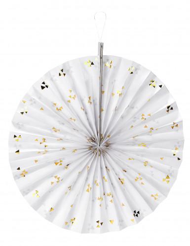 Rosone bianco con triangoli dorati 40 cm
