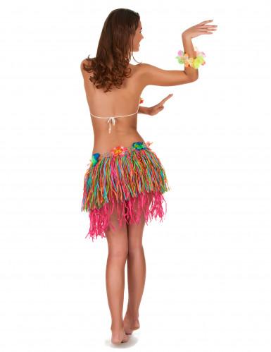 Gonna hawaiana con frange multicolor-2