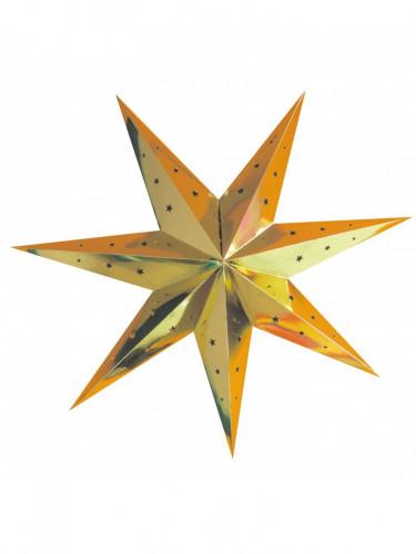 Lanterna stella color oro