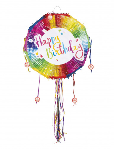 Pignatta rotonda multicolor Happy Birthday