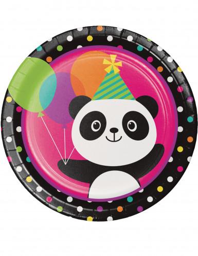 8 piatti di cartone panda Party 22 cm