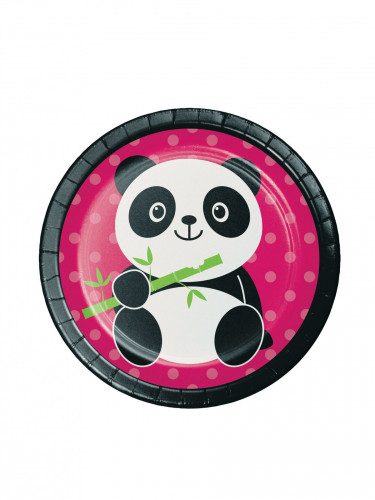 8 piattini Panda Party 17.5 cm
