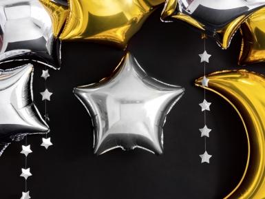 Palloncino alluminio stella argentata 45 cm-1