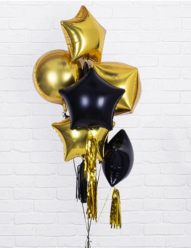 Palloncino alluminio stella dorata 45 cm-1