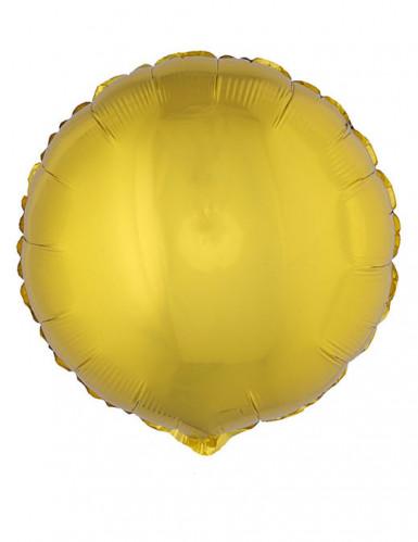 Palloncino di alluminio rotondo dorato