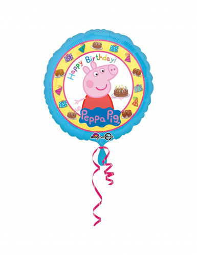 Palloncino alluminio Happy Birthday Peppa Pig 43 cm