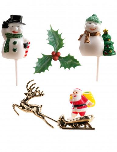 Kit 6 decorazioni per dolci Natale