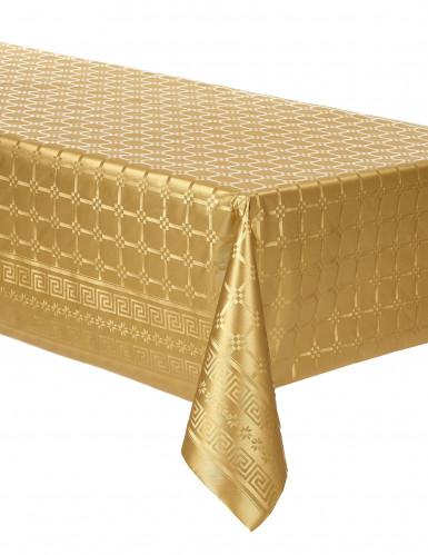 Tovaglia di carta damascata in rotolo color oro 6 m