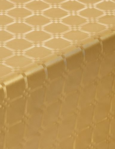 Tovaglia di carta damascata in rotolo color oro 6 m-1