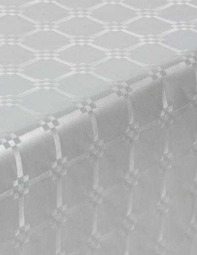 Tovaglia di carta damascata in rotolo color argento 6 m-1