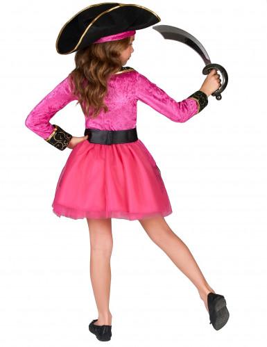 Costume piratessa rosa e oro bambina-2
