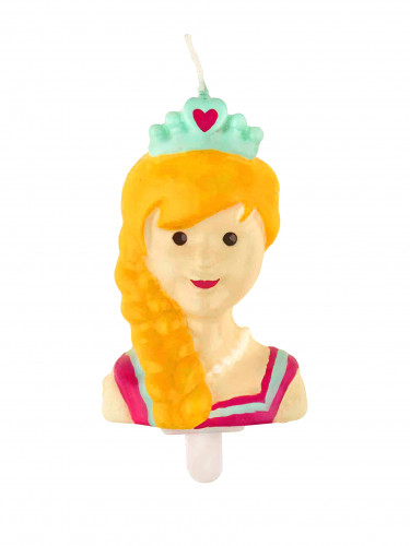 Candelina principessa da 7 cm