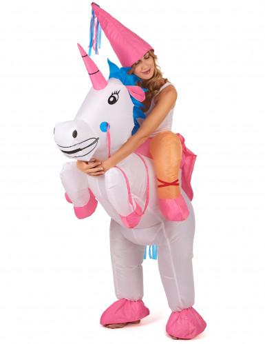 Costume unicorno gonfiabile per adulto-1