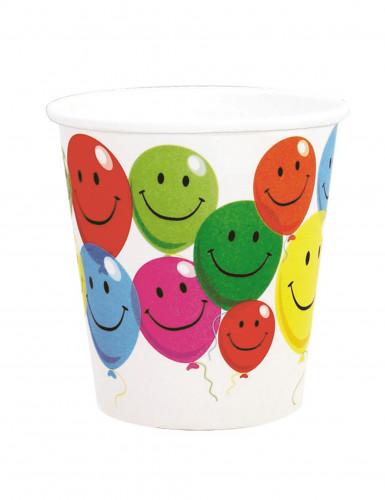 6 bicchieri in cartone Smile