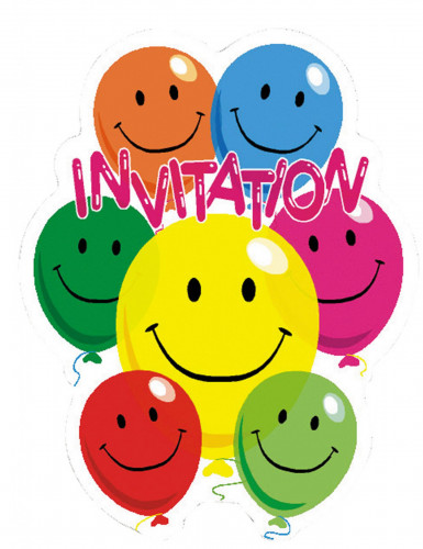 6 inviti di compleanno smile