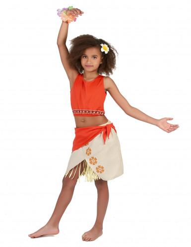 Costume hawaiano color corallo bambina-1