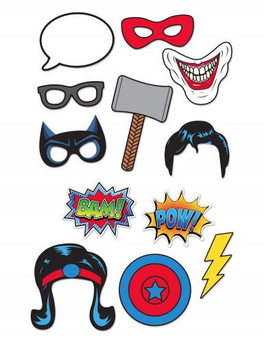 Kit photobooth 12 pezzi super eroi