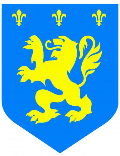 Decorazione medievale con leone blu