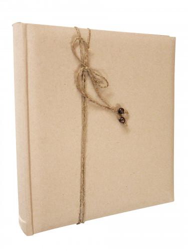 Libro firme kraft con corda