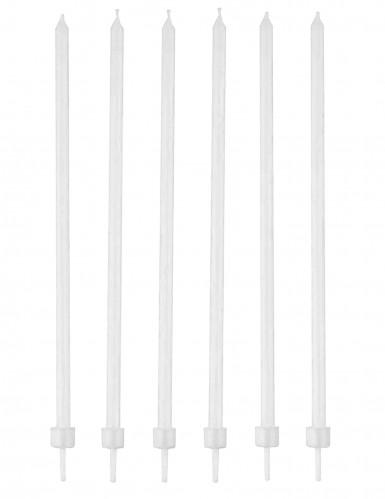 16 candeline bianche con supporto