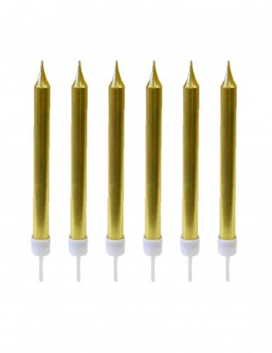 10 candeline color oro