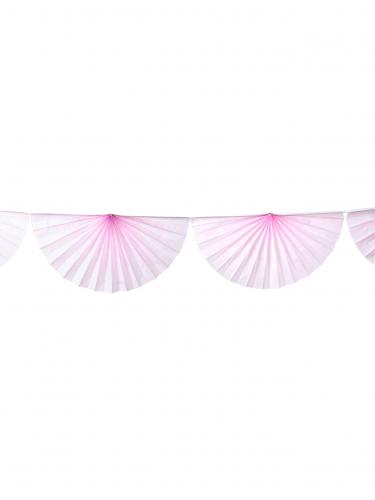 Ghirlanda di ventagli rosa
