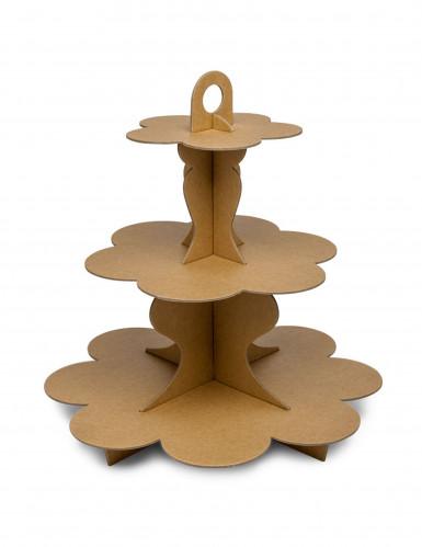 Espositore per cupcakes in cartone kraft