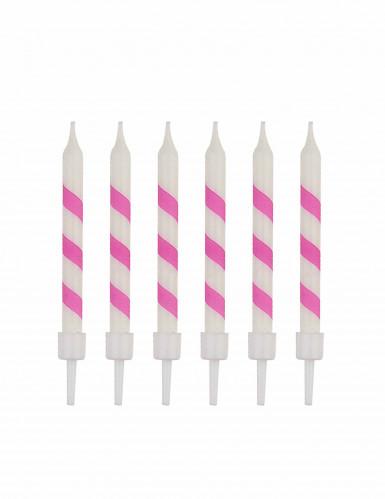 10 candeline sorbetto rosa