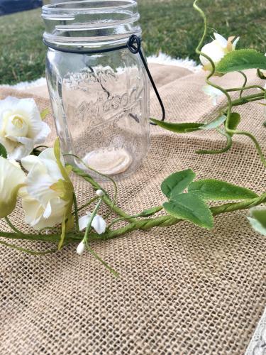 Vaso di vetro stile mason jar-1
