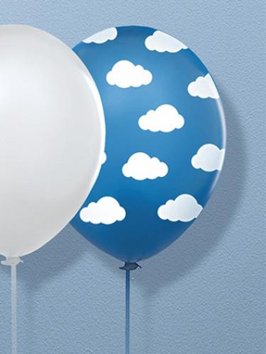 6 palloncini blu con nuvolette-1