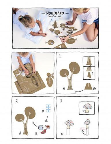 12 Decorazioni da tavola Foresta incantata-2
