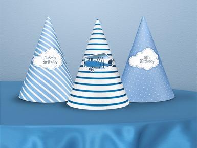 6 cappellini in cartone piccolo aviatore-1