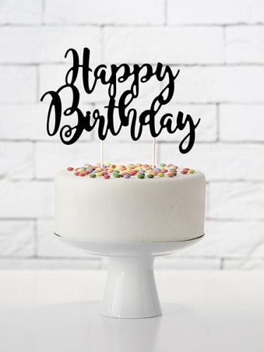 Decorazione per torta Happy Birthday-1