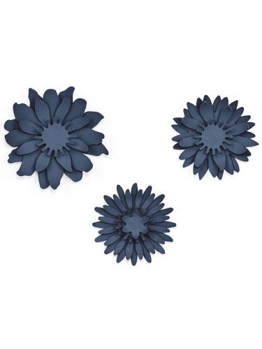 3 fiori blu in carta 3D-1