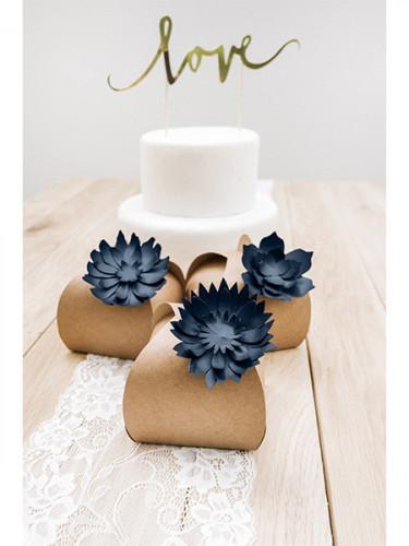 3 fiori blu in carta 3D-2