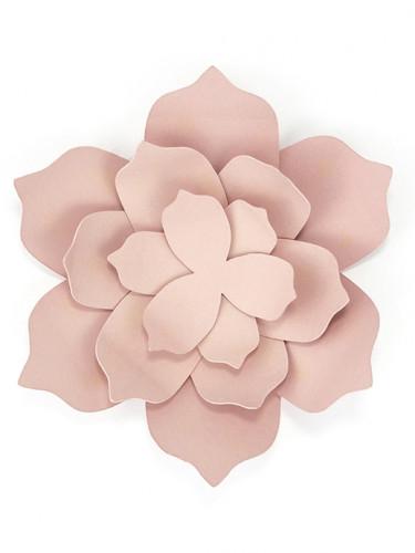 3 fiori di carta rosa 10 cm-1