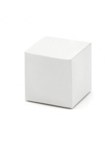 10 scatoline bianche quadrate