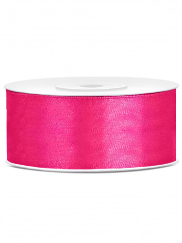 Nastro satinato fucsia 25 mm