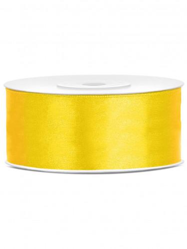 Nastro satinato giallo 25 mm
